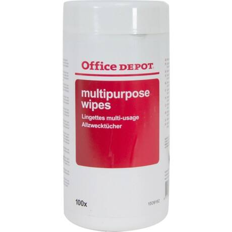Office Depot Pre-saturated Multipurpose Wipes 100 Per Tub