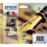 Epson 16XL Original Ink Cartridge C13T16364012 Black & 3 Colours 4 Pieces