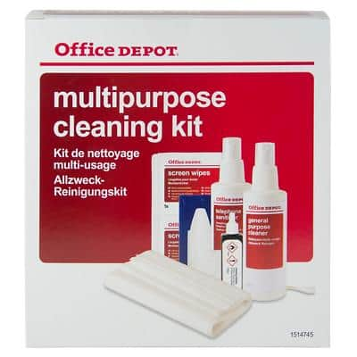 Office Depot Multipurpose Cleaning Kit Red, White
