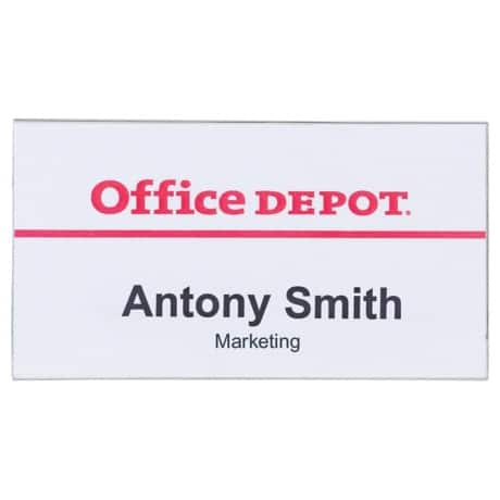 Office Depot Croc and Pin Badges 75 x 40 mm 50pk