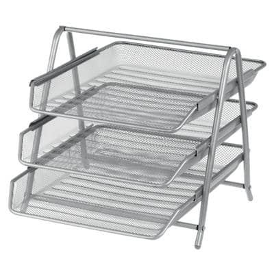 Office Depot Filing Shelves Silver Wire Mesh 27 x 35.5 x 26.5 cm