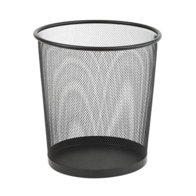 Office Depot Waste Bin Black Wire Mesh 26 x 26 x 28 cm