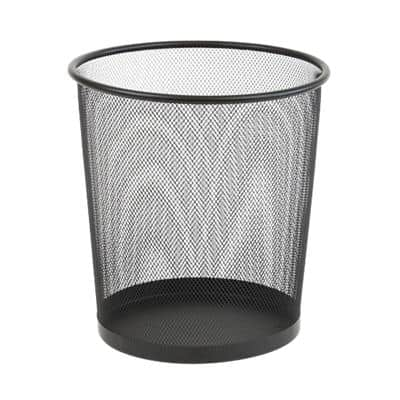 Office Depot Waste Bin 15 Litre Black 15 L Wire Mesh 26 x 26 x 28 cm
