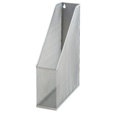 Office Depot Magazine File Silver Wire Mesh 7.5 x 25.3 x 31.5 cm