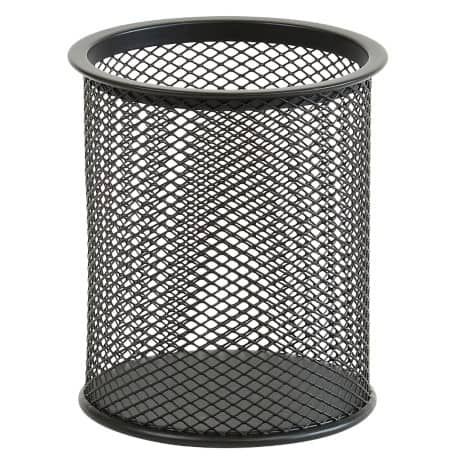 Office Depot Pencil Pot Wire Mesh Black 10 x 9 x 9 cm