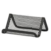 Office Depot Business Card Holder Black Wire Mesh 7.5 x 10 x 4.4 cm