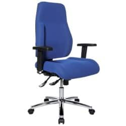 WorkPro Signum synchronised high back operator chair with adjustable arms – blue