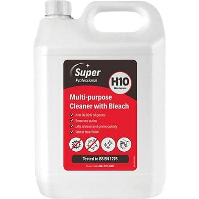 Super Professional Products H10 Multi-Purpose Cleaner with Bleach 5L