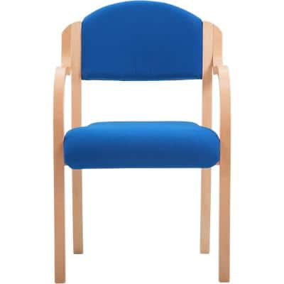 Visitor Chair Bentwood Fabric Blue