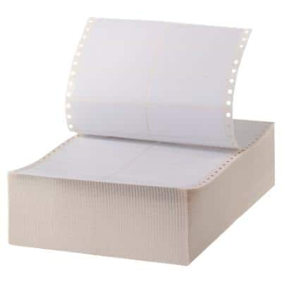 Office Depot Computer Labels Dot Matrix 88.9 x 35.7 mm White 8000 Labels