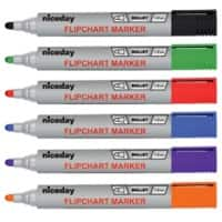 Niceday Flipchart Marker Bullet 3 mm Assorted 6 Pieces