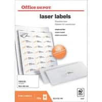 Office Depot Laser Labels Self Adhesive 63.5 x 38.1 mm White 2100 Labels