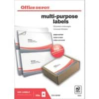 Office Depot Multipurpose Labels Just Corners White 200 labels per pack