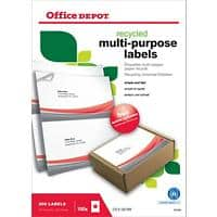 Office Depot Multifunction Labels Self Adhesive 210 x 148 mm White 200 Labels