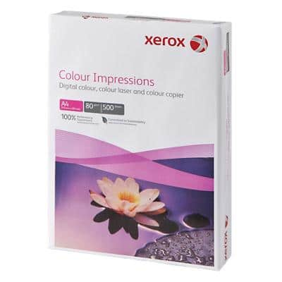 Xerox Colour Impressions Printer Paper A4 80gsm White 500 Sheets