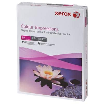 Xerox Colour Impressions Printer Paper A4 160gsm White 250 Sheets