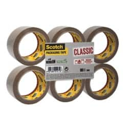 Scotch Packaging Tape Classic 50 mm x 66 m Brown 6 rolls