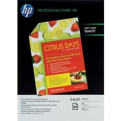 HP Photo Paper Professional A4 180gsm White Glossy 50 Sheets
