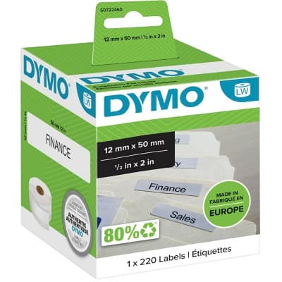 DYMO Suspension File Labels 99017 12 x 50 mm White 220 Labels