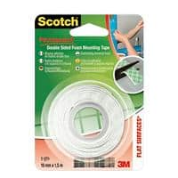Scotch Mounting Tape Double Sided White 19 mm x 1.5 m