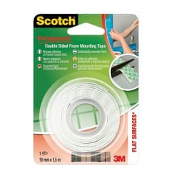 Scotch Mounting Tape Double Sided 19 mm x 1.5 m White