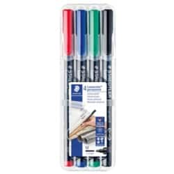 Staedtler Lumocolor OHP and CD Pens Permanent Medium Assorted, Pack Of 4