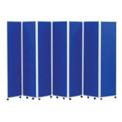 Concertina Display System/Room Divider - Royal Blue 7 Screen 180 cm