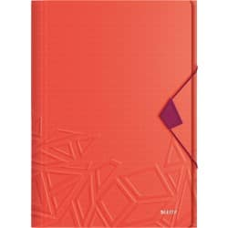 Leitz 3 Flap Folder Urban Chic A4 Red, Purple Polypropylene