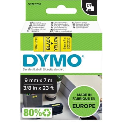 DYMO Labelling Tape 40918 7 m Black , Yellow