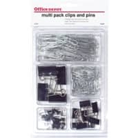 Office Depot Multipack Clips and Pins Black Pack of 212
