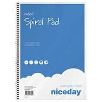 Niceday A4 Wirdound Paper Cover Notepad Ruled 100 Pages Pack of 5
