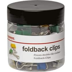 Office Depot Foldback Clip Assorted 50 Pieces