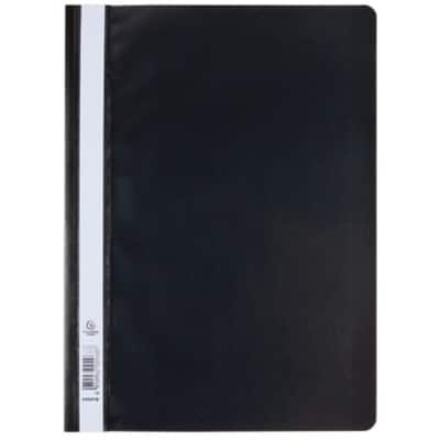 Exacompta Report File A4 Black Polypropylene 25 Pieces