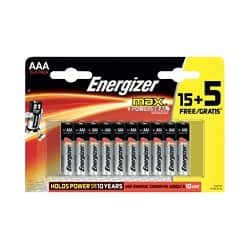 Energizer Batteries Max AAA 20 Pieces