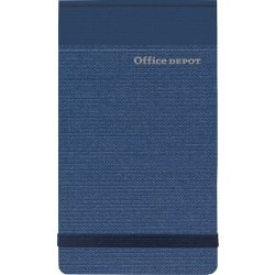 Office Depot Notebook Navy Blue Ruled unperforated 78 x 127 mm 80 sheets