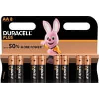 Duracell AA Alkaline Batteries Plus Power MN1500 LR6 1.5V 8 Pieces