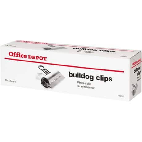 Office Depot Clips Silver 75 mm 12 Per Box