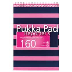 Pukka Navy Reporters Pad Pink - Pack of 3