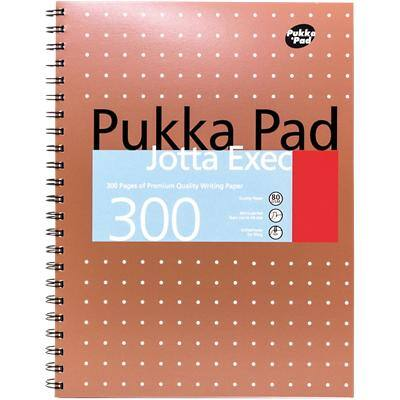 Pukka Pad Notebook White A4 Ruled Perforated 150 Sheets Pack of 3