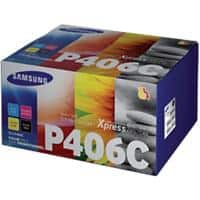 Samsung CLT-P406C Original Toner Cartridge Black & 3 Colours 4 Pieces