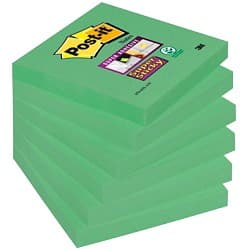 Post-it Super Sticky Notes Green 76 mm 70gsm 6 pieces of 90 sheets