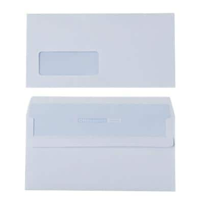 Office Depot Envelopes DL 110 x 220 mm 90 g/m² White Window Self Seal Pack of 500