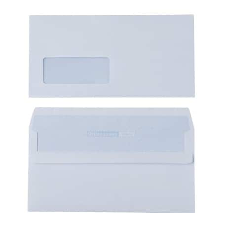 Office Depot Envelopes dl 90gsm White window self seal 500 pieces