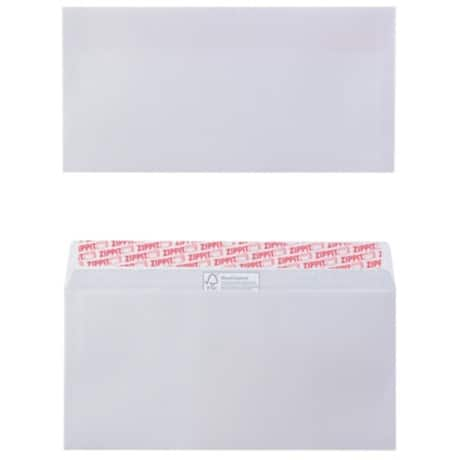 Office Depot Envelopes dl 100gsm White plain peel and seal 500 pieces