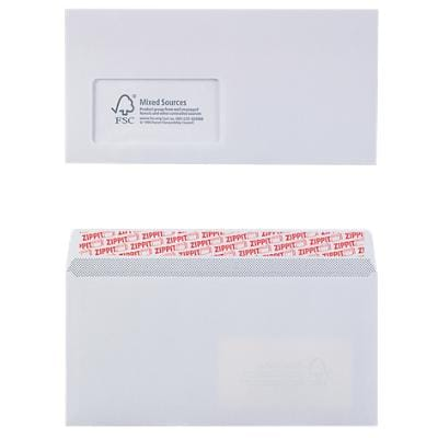 Office Depot Envelopes DL 110 x 220 mm 100 g/m² White window Peel and Seal Pack of 500