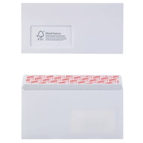 Office Depot Envelopes dl 100gsm White window peel and seal 500 pieces