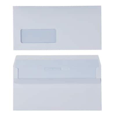 Office Depot Business Envelopes DL 110gsm White Window Self Seal 500 Pieces