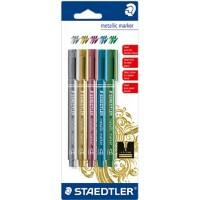 STAEDTLER Metallic Markers Bullet 2.0 mm Assorted 5 Pieces