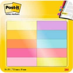 Post-it Page Markers 670-10AB Assorted 12.7 x 43.7 mm 44.4 x 12.7 mm 10 pieces of 50 strips