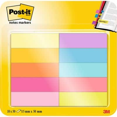 Post-it Index Flags Assorted Plain Not perforated 12,7 x 44,4 mm